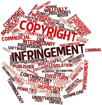 Word cloud for Copyright infringement