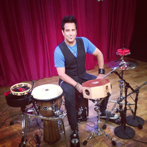 Field testing products and filming promo video at Latin percussion (LP) headquarters in Garfield, NJ