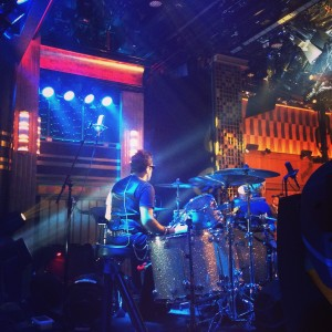 Playing on the set of the Late Show with Jimmy Fallon, NYC