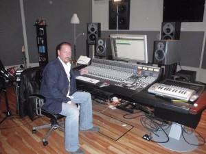 David Mobley in the Studio